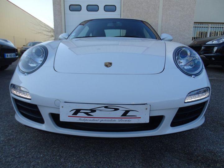 Porsche 911 997 S 3.8L 385PS PDK/PACK CHRONO + TOE BIXENON CD S.SPORT PACK CUIR REGULATEUR DE VITESSE blanc nacré - 4