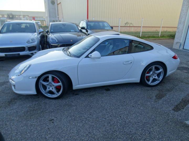 Porsche 911 997 S 3.8L 385PS PDK/PACK CHRONO + TOE BIXENON CD S.SPORT PACK CUIR REGULATEUR DE VITESSE blanc nacré - 6