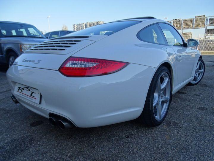 Porsche 911 997 S 3.8L 385PS PDK/PACK CHRONO + TOE BIXENON CD S.SPORT PACK CUIR REGULATEUR DE VITESSE blanc nacré - 11