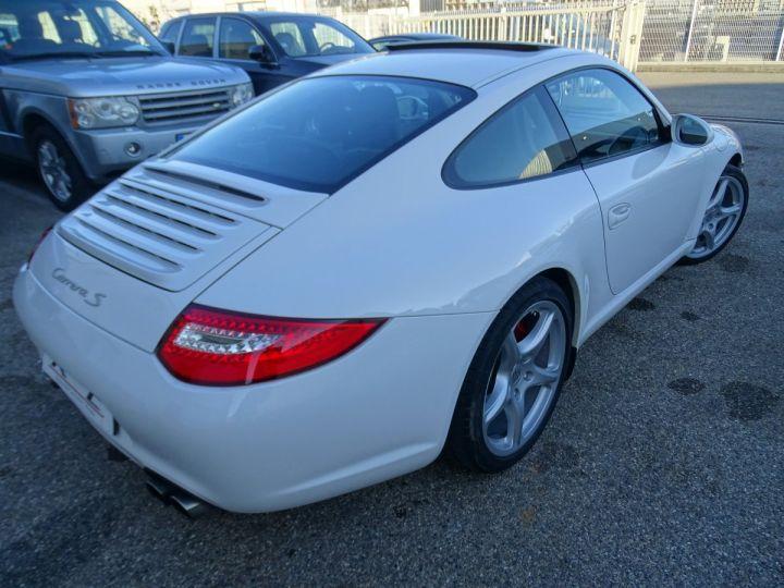 Porsche 911 997 S 3.8L 385PS PDK/PACK CHRONO + TOE BIXENON CD S.SPORT PACK CUIR REGULATEUR DE VITESSE blanc nacré - 12