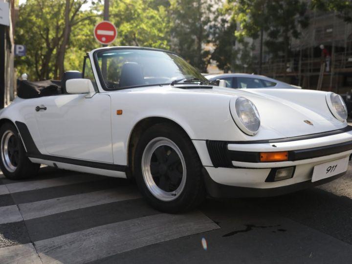 Porsche 911 PORSCHE 911 CARRERA CABRIOLET 3.2 231CV Blanc - 4