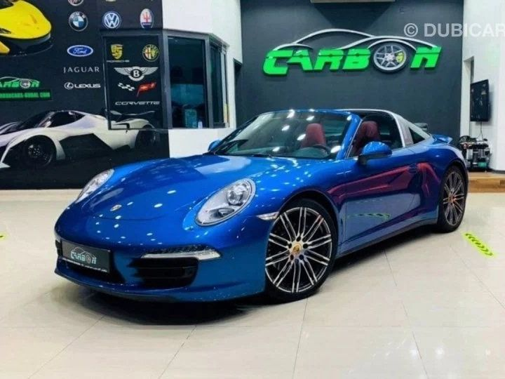 Porsche 911 Targa # 911 CARRERA TARGA 4 # Bleu  - 2