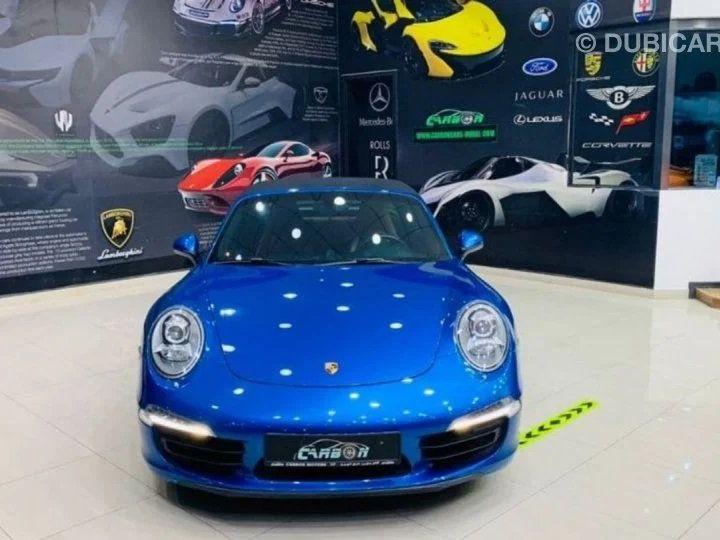 Porsche 911 Targa # 911 CARRERA TARGA 4 # Bleu  - 3