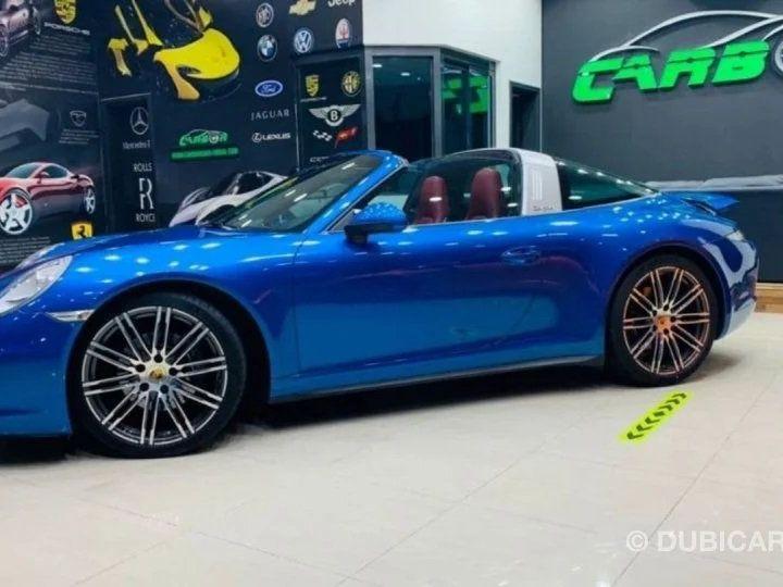 Porsche 911 Targa # 911 CARRERA TARGA 4 # Bleu  - 4