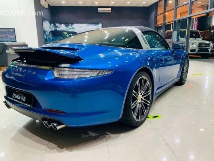 Porsche 911 Targa # 911 CARRERA TARGA 4 # Bleu  - 6