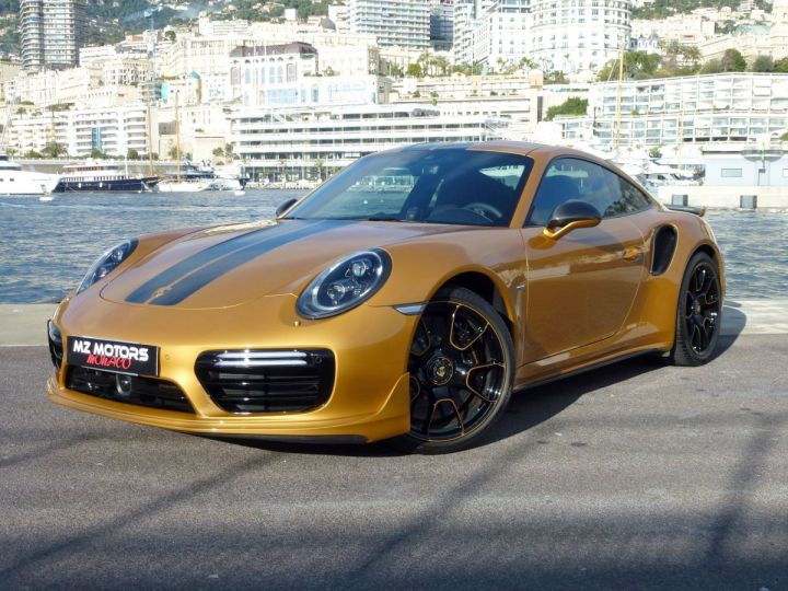Porsche 911 TYPE 991 TURBO S EXCLUSIVE SERIES Or Jaune métallisé Occasion - 1