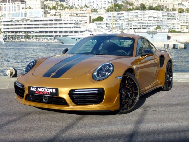 Porsche 911 TYPE 991 TURBO S EXCLUSIVE SERIES Or Jaune métallisé Occasion - 2