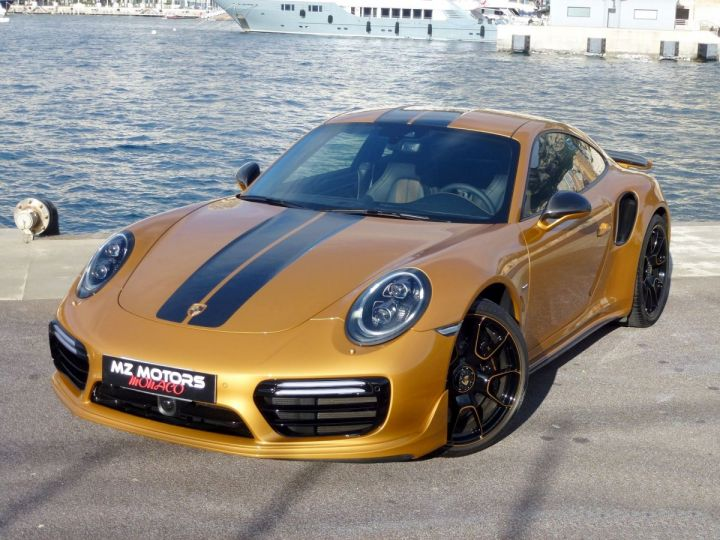 Porsche 911 TYPE 991 TURBO S EXCLUSIVE SERIES Or Jaune métallisé Occasion - 3