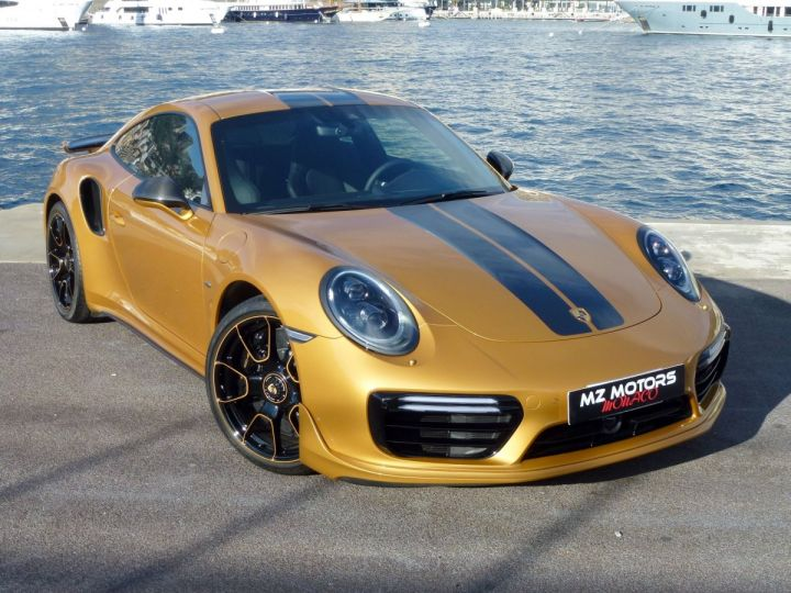 Porsche 911 TYPE 991 TURBO S EXCLUSIVE SERIES Or Jaune métallisé Occasion - 4