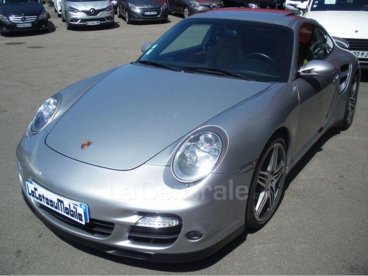 Porsche 911 TYPE 997 (997) 3.6 480 TURBO TIPTRONIC S gris clair metal - 1