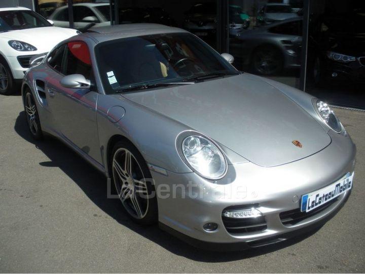 Porsche 911 TYPE 997 (997) 3.6 480 TURBO TIPTRONIC S gris clair metal - 2