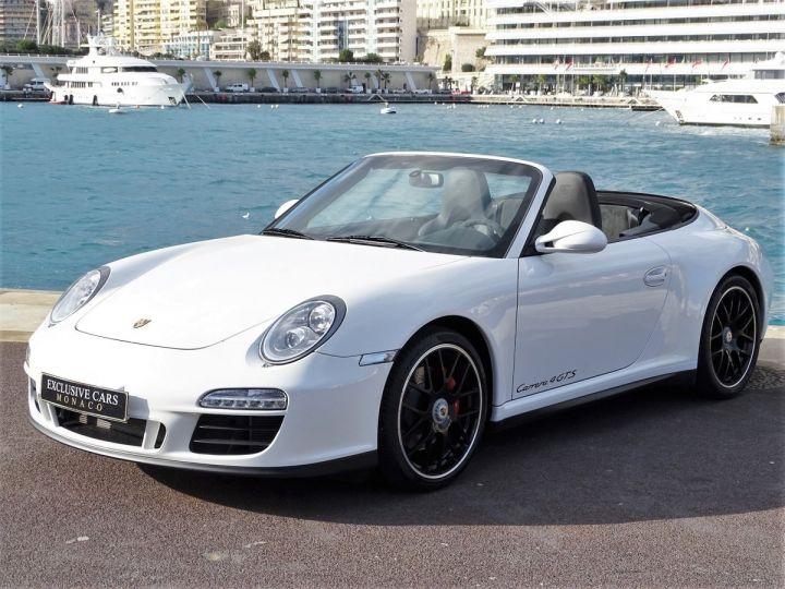 Porsche 911 TYPE 997 CARRERA 4 GTS CABRIOLET PDK 408 CV - MONACO Blanc - 1