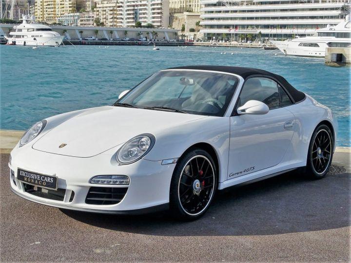 Porsche 911 TYPE 997 CARRERA 4 GTS CABRIOLET PDK 408 CV - MONACO Blanc - 11