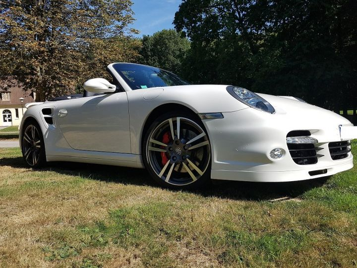 Porsche 911 TYPE 997 TURBO 500 PDK CABRIOLET BLANC  Occasion - 10