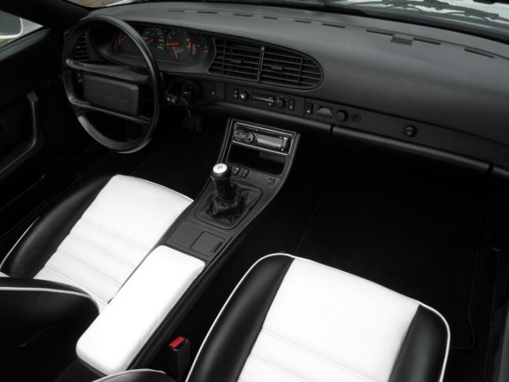 Porsche 944 TURBO CABRIOLET 2.5 250CH Blanc Occasion - 8