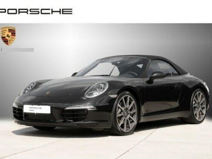 Porsche 991 Cabriolet 3.4  350 Carrera  PDK (Pack chrono) noir métal - 1