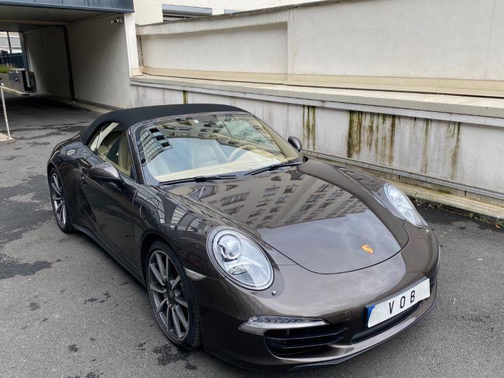 Porsche 991 PORSCHE 991 CARRERA 4S CABRIOLET PDK 3.8 400CV 52000 KMS Antharcite Brown - 7