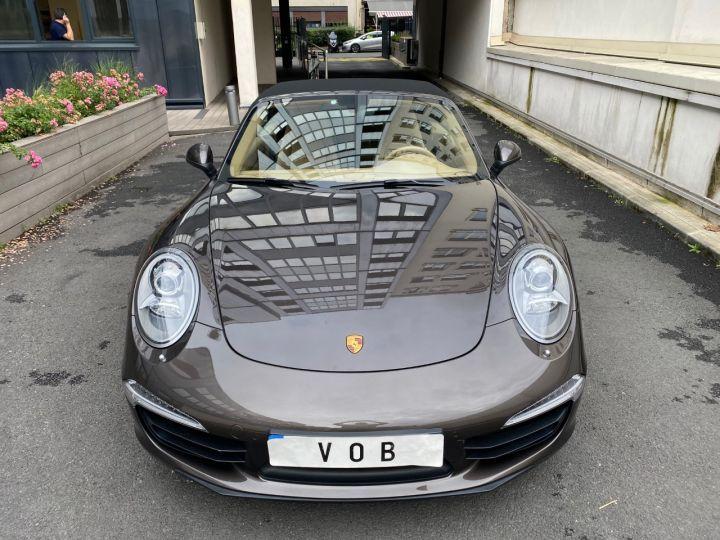 Porsche 991 PORSCHE 991 CARRERA 4S CABRIOLET PDK 3.8 400CV 52000 KMS Antharcite Brown - 8