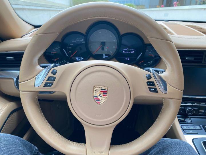 Porsche 991 PORSCHE 991 CARRERA 4S CABRIOLET PDK 3.8 400CV 52000 KMS Antharcite Brown - 16