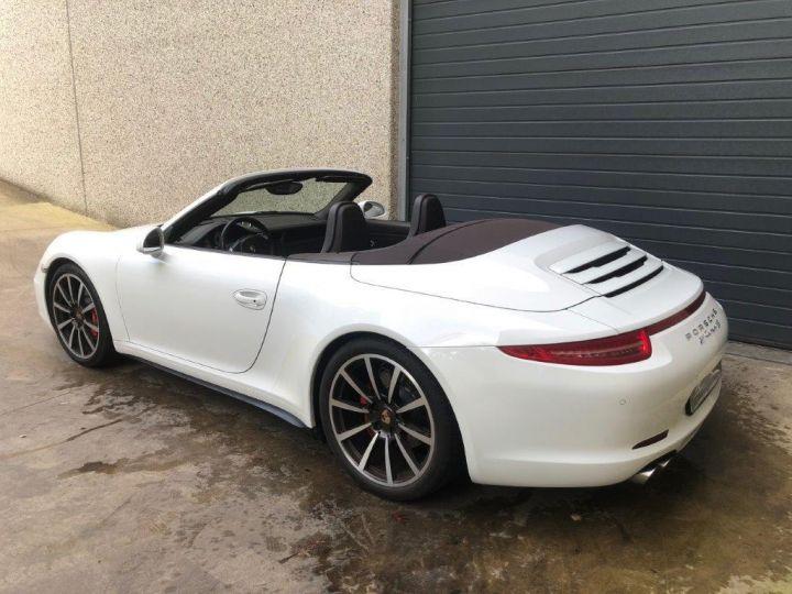 Porsche 991 PORSCHE 991 CARRERA 4S PDK CABRIOLET Blanc - 3