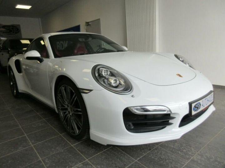 Porsche 991 turbo  blanc  - 1