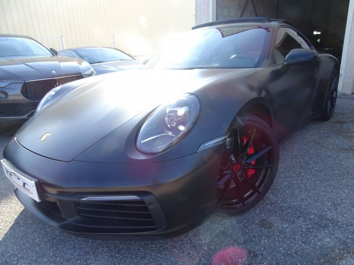 Porsche 992 911 992 S 450ps PDK8 / XLF TOE Jtes 21 Pdc + Camera ... noir mat - 1