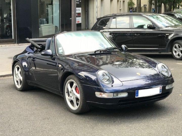 Porsche 993 CARRERA CABRIOLET BVM 272 CV ETAT CONCOURS Bleu Nuit - 4
