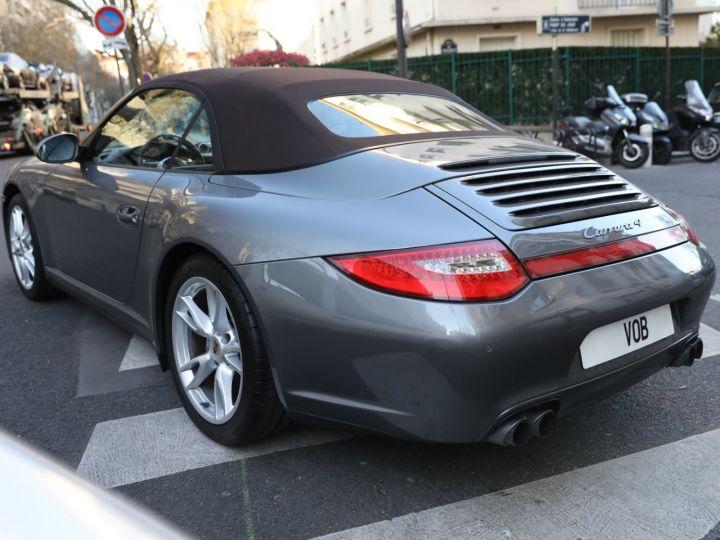 Porsche 997 PORSCHE 997 CARRERA 4 PDK CABRIOLET /FULL /PSE/ CHRONO 2011 Gris Meteor - 4