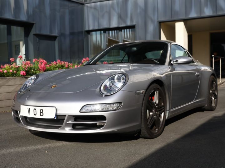Porsche 997 PORSCHE 997 CARRERA 4S CABRIOLET BVM /CHRONO /ECHAPPEMENT / SUPERBE Gris Gt - 1