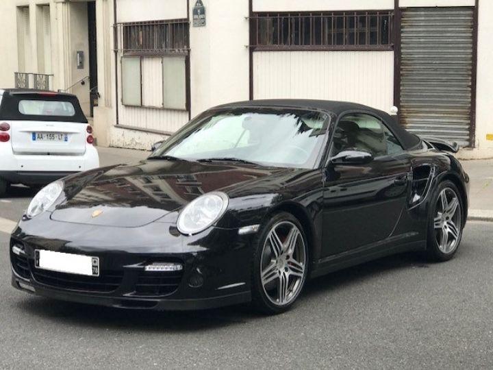 Porsche 997 PORSCHE 997 TURBO BVM CABRIOLET NOIR - 7