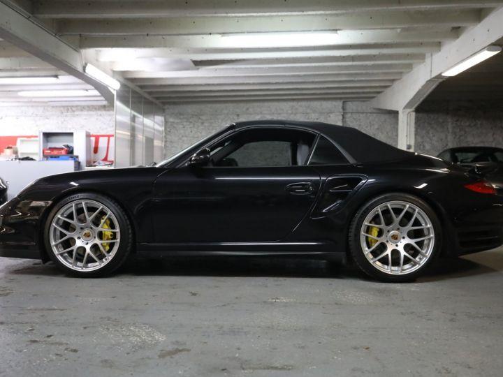 Porsche 997 PORSCHE 997 TURBO CABRIOLET PDK 500 CV FRANCAISE SUPERBE Noir - 2