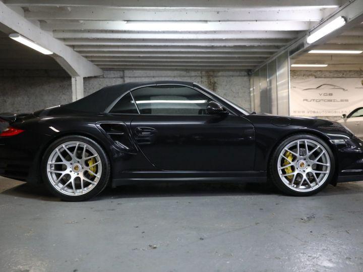 Porsche 997 PORSCHE 997 TURBO CABRIOLET PDK 500 CV FRANCAISE SUPERBE Noir - 11