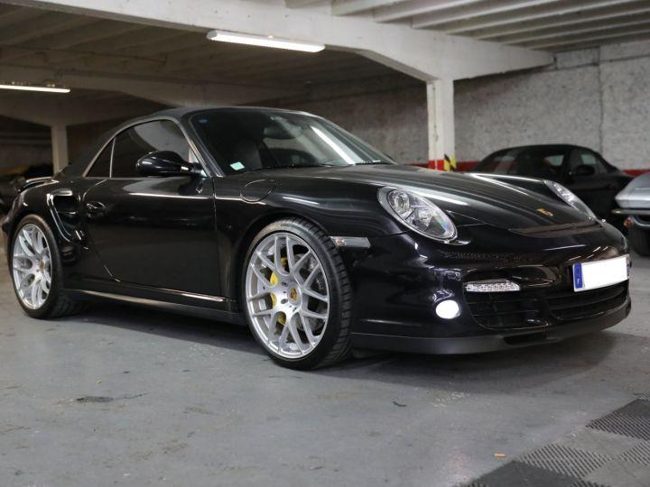 Porsche 997 PORSCHE 997 TURBO CABRIOLET PDK 500 CV FRANCAISE SUPERBE Noir - 3