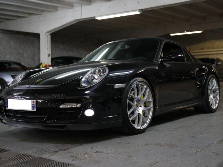 Porsche 997 PORSCHE 997 TURBO CABRIOLET PDK 500 CV FRANCAISE SUPERBE Noir - 1