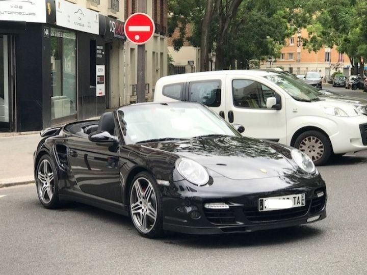 Porsche 997 TURBO BVM CABRIOLET Noir - 5