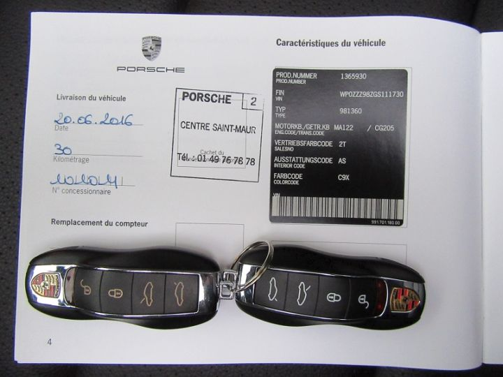 Porsche Boxster 981 2.7 265CH BLACK EDITION PDK NOIR Occasion - 20