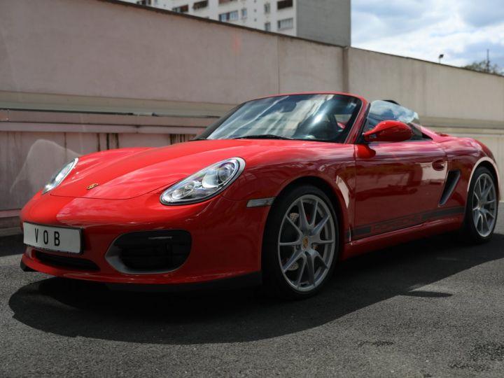 Porsche Boxster PORSCHE 987 BOXSTER SPYDER 320CV BOITE MECANIQUE AVEC 181 KMS D ORIGINE !!!! Rouge Indien - 4