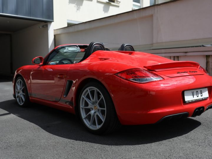 Porsche Boxster PORSCHE 987 BOXSTER SPYDER 320CV BOITE MECANIQUE AVEC 181 KMS D ORIGINE !!!! Rouge Indien - 3