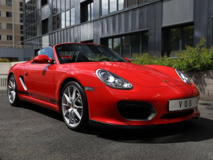 Porsche Boxster PORSCHE 987 BOXSTER SPYDER 320CV BOITE MECANIQUE AVEC 181 KMS D ORIGINE !!!! Rouge Indien - 1
