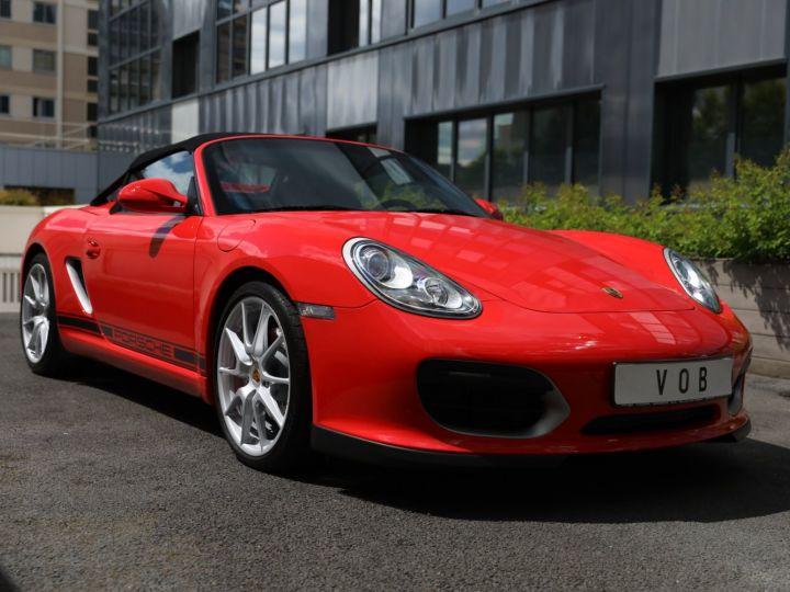 Porsche Boxster PORSCHE 987 BOXSTER SPYDER 320CV BOITE MECANIQUE AVEC 181 KMS D ORIGINE !!!! Rouge Indien - 8