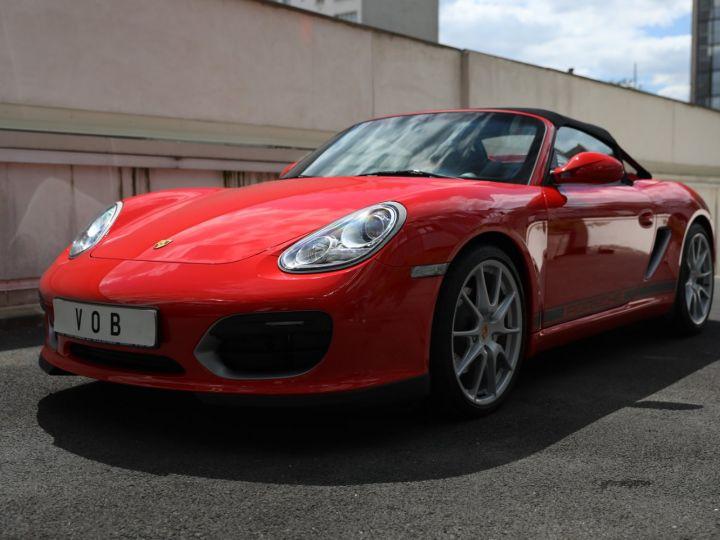 Porsche Boxster PORSCHE 987 BOXSTER SPYDER 320CV BOITE MECANIQUE AVEC 181 KMS D ORIGINE !!!! Rouge Indien - 13