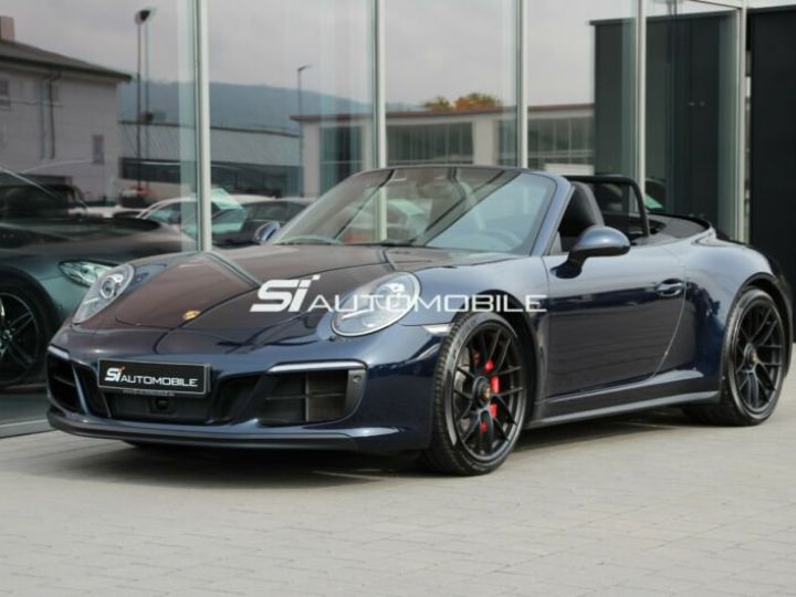 Porsche Carrera GT # Porsche 911 991 Carrera 4 GTS Cabriolet # 1ere Main # Bleu Peinture métallisée - 1