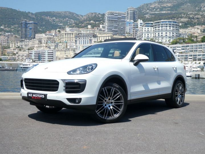 Porsche Cayenne II (2) 3.0 V6 D 262 TIPTRONIC  Blanc Pur Occasion - 1