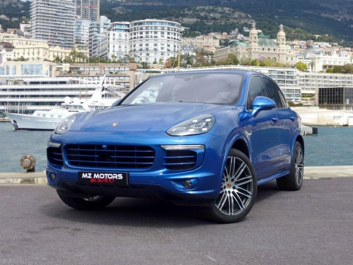 Porsche Cayenne II 3.0 S E-HYBRID TIPTRONIC Bleu Saphir métal Occasion - 2