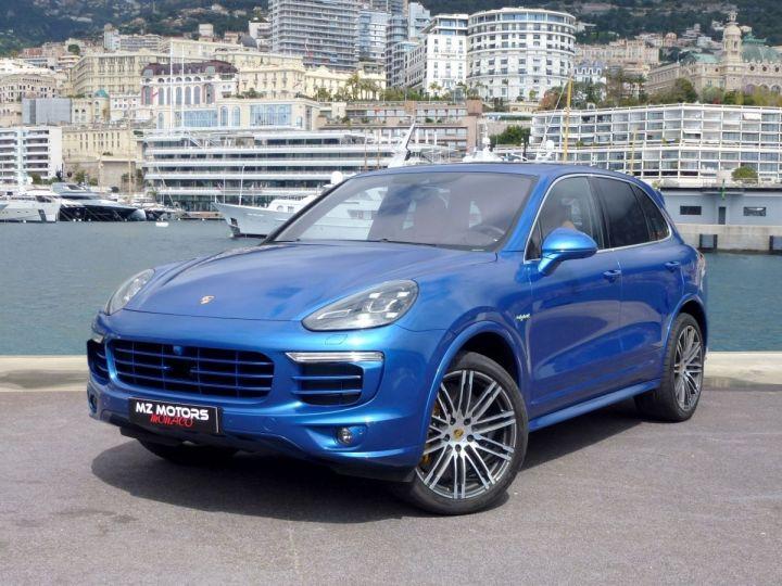 Porsche Cayenne II 3.0 S E-HYBRID TIPTRONIC Bleu Saphir métal Occasion - 3