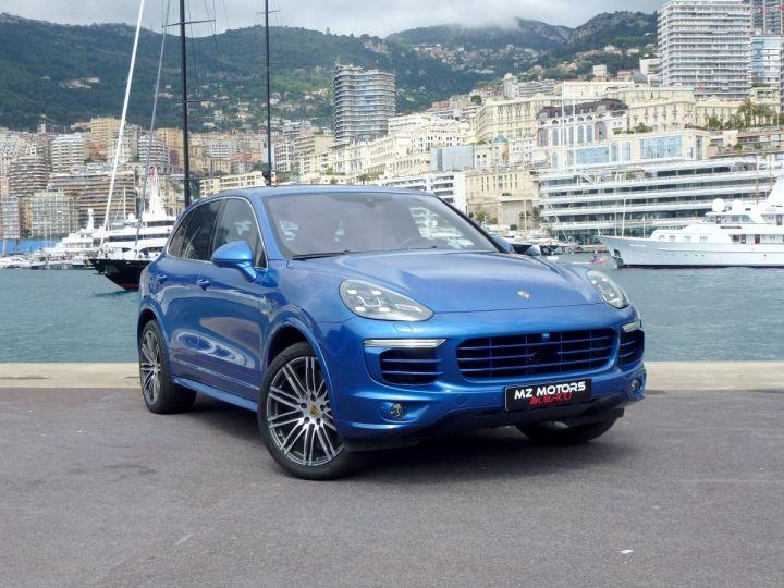 Porsche Cayenne II 3.0 S E-HYBRID TIPTRONIC Bleu Saphir métal Occasion - 5