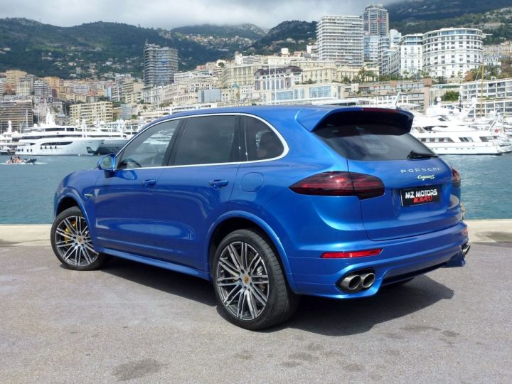 Porsche Cayenne II 3.0 S E-HYBRID TIPTRONIC Bleu Saphir métal Occasion - 11