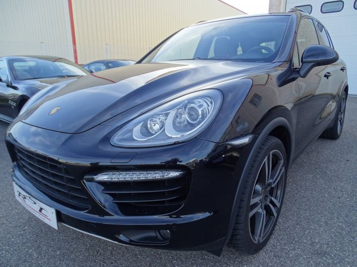 Porsche Cayenne II Turbo 4,8L V8 500CH / FULL OPTIONS noir métallisé - 1