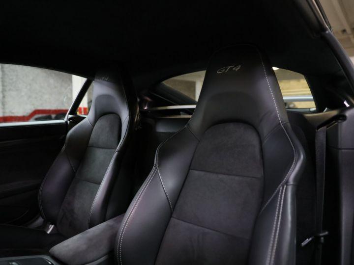 Porsche Cayman PORSCHE 981 CAYMAN GT4 APPROVED MARS 2022 / ETAT NEUF Gris Argent - 23