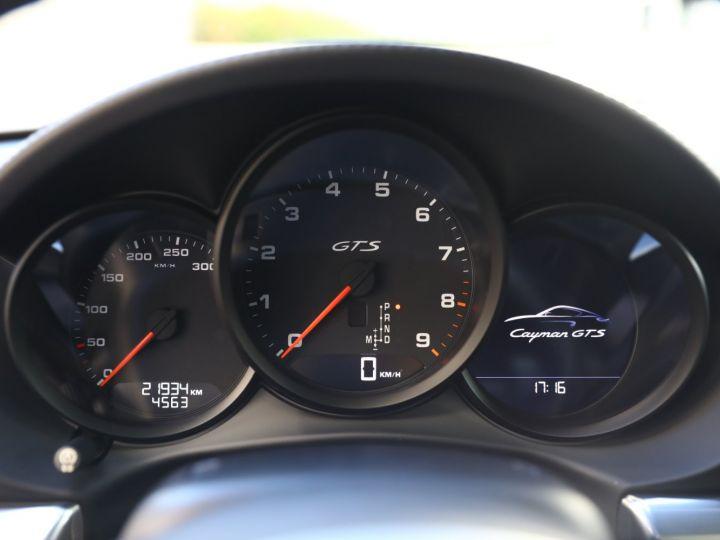 Porsche Cayman PORSCHE CAYMAN GTS PDK 21500 KMS ETAT NEUF Blanc - 29